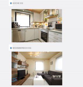 Immobiliensuche - Küche und Wohnbereich