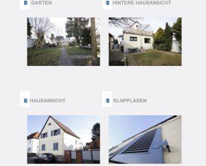 Immobiliensuche - Auszug aus dem Expose - Außenansichten