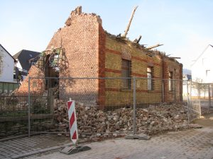 Abriss eines alten Gründerzeitgebäudes Grabenstraße 16, Nassau (Lahn)