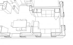 Erste Skizze der Küchenplanung
