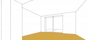 Unser zukünftiges Wohnzimmer als Raumskizze