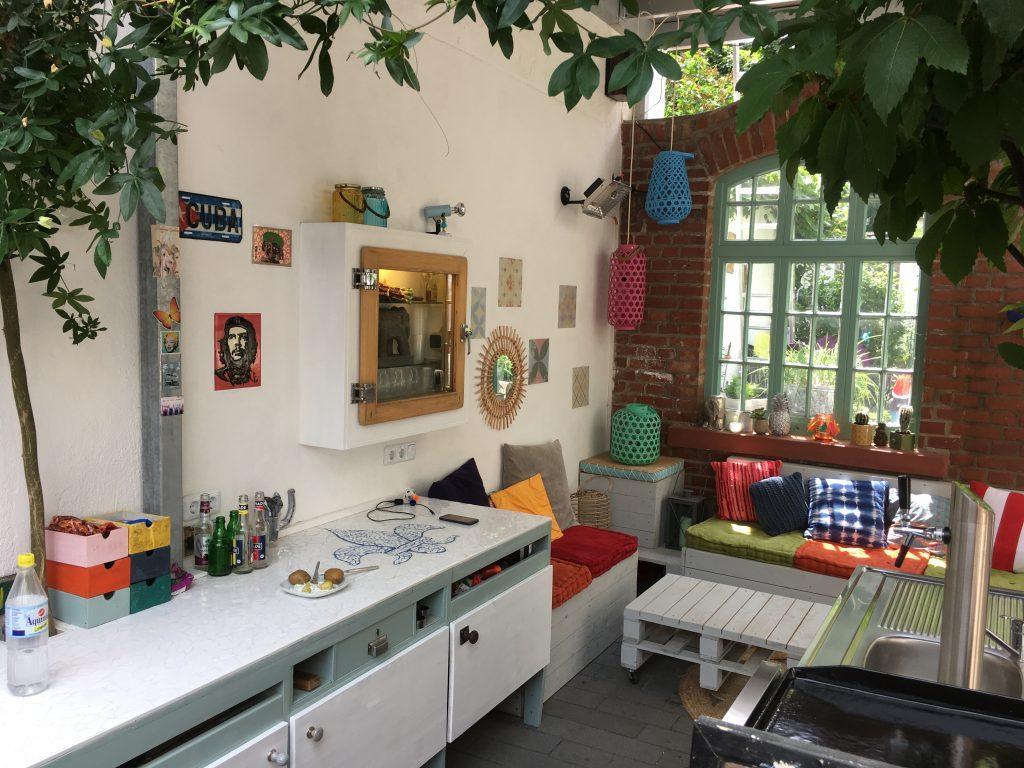 Außenraumküche als Eigenbauprojekt