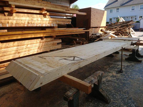 Unsere zukünftige Gartenfassade entsteht im Holzrahmenbau