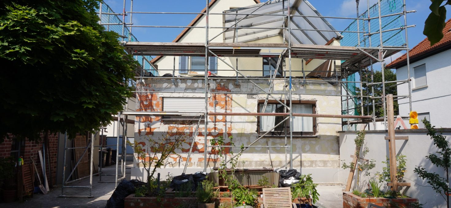 Baustelle – Vorbereitungen zur Sanierung