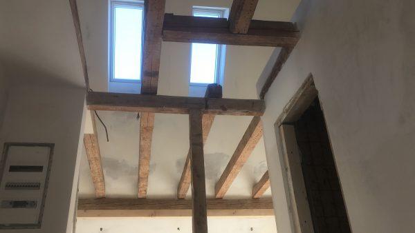 Blick in den Dachstuhl