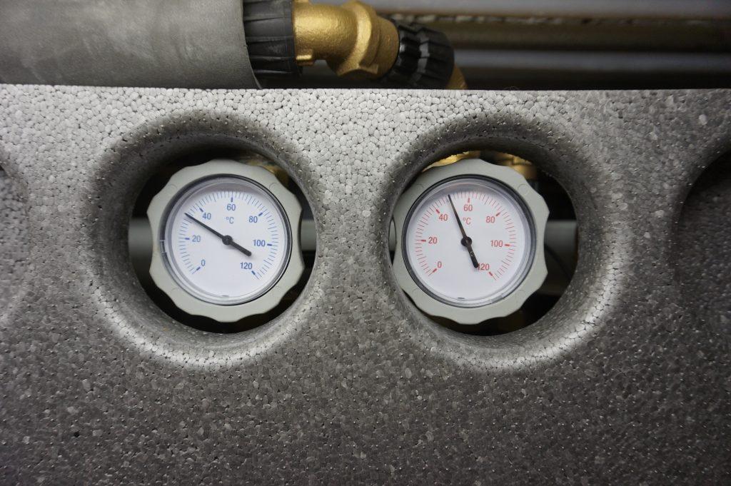 Heizungstausch - Aktuelle Vor- und Rücklauftemperaturen im Heizkreis