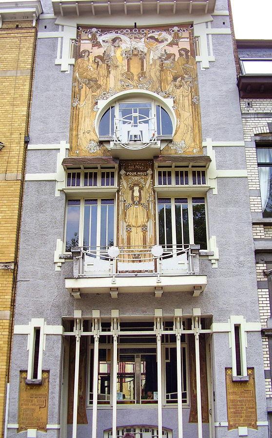 Maison Cauchie, architecte Paul Cauchie, 1905 - Etterbeek (Quelle: Ben2~commonswiki, CC BY-SA 3.0)